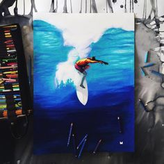 🏄🏻 it's all about where my mind's at #surfing #surfer #surfart