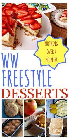 10 Weight Watcher Freestyle Desserts under 4 points each