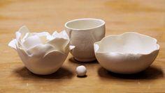 two lives Einklang / Werkstatt-Atelier: Endlich nun die Porzellan-Objekte, Teil II...