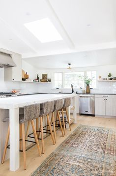 Before and After: Inside Amber Interiors' Boho-Chic Kitchen Renovation via @MyDomaine