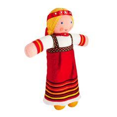 Russian Folk Costume Knitted Doll 'Vasylisa'