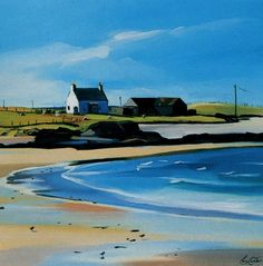 The Farm, Tiree, by Pam Carter, Scottish.