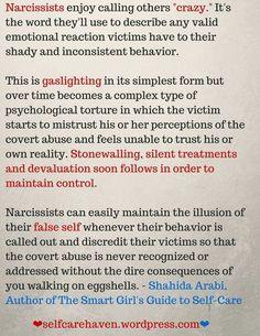 Narcissists calling you 'Crazy'