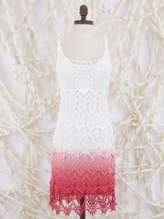 Oooo I like it in red too!!   Day Dream Ombre Crochet Dress