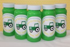 Tractor Party BubblesSet party favor! #PampersPinParty