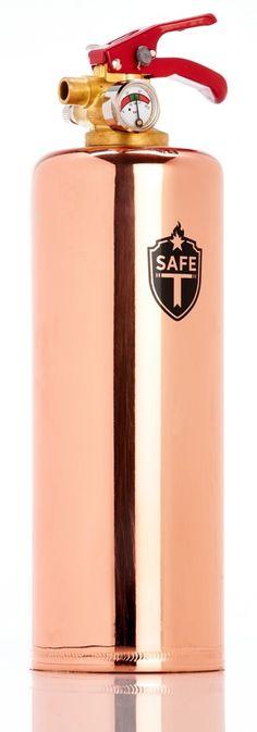 safe-t fire extinguisher, copper - Bassett~proof yo'kitchen