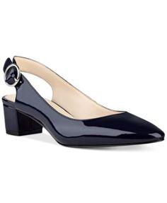 zapatillas Nine West Brigitte Block-Heel Pumps - Blue Nine West Brigitte Block-Heel Pumps - Blue Kitten Heel Shoes, Low Heel Shoes, Pump Shoes, Low Heels, Shoes Heels, Pretty Shoes, Beautiful Shoes, Office Shoes For Women, Blue Pumps