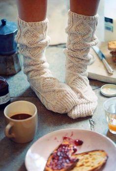cozy socks always needed for winter!