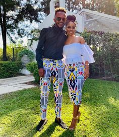 "kalahari fashions on Instagram: ""Kwesta and wife in Kalahari fashions outfits"""
