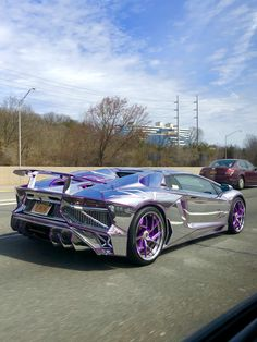 Chrome Lamborghini : outrun - Things With Motors - Top Luxury Cars, Luxury Sports Cars, Sport Cars, Fancy Cars, Cool Cars, Dream Cars, Lamborghini Cars, Car Mods, Expensive Cars