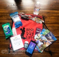 A few items that should be added to your back pack for a day at a Disney park!