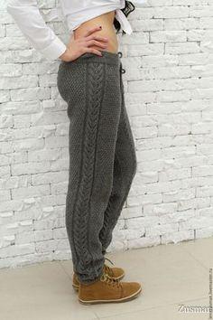 Брюки, шорты ручной работы. Стильные вязаные брючки,гамаши,леггинсы. 100% шерсть Alize. zusman (LenaZusman). Ярмарка Мастеров. Crochet Pants, Knit Pants, Diy Crochet, Kleidung Design, Pants Pattern, Knit Fashion, Lounge Wear, Knitwear, Knitting Patterns