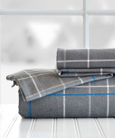 blue pop plaid flannel sheet set zulilyfinds - Flannel Sheets Queen
