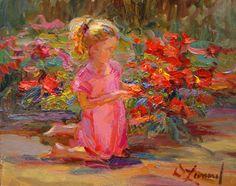 "Diane Leonard, ""Red Roses"" (Study)"