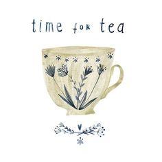 Notforgotten Farm : ~ Time for Tea & Embroidery ~ - illustrations Tee Illustration, Tee Kunst, Tea Quotes, Tea Time Quotes, Cuppa Tea, Flower Tea, Tea Art, My Cup Of Tea, Drinking Tea