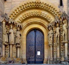 Catedral de Bamberg, siglo XIII. Portada de Adán.