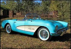 Corvette, love the cool color! When I was an 8th grader, Daddy drove one like this for a little while, then (sadly) sold it.