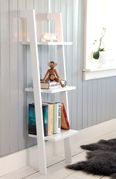 Hvit bokhylle med 3 hyller » Bokklubben