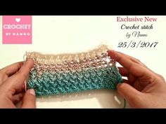 غرز كروشية جديدة بالباترون غرزة رقم #5  قناة #كروشي_مع_ناننو Different Crochet Stitches - YouTube