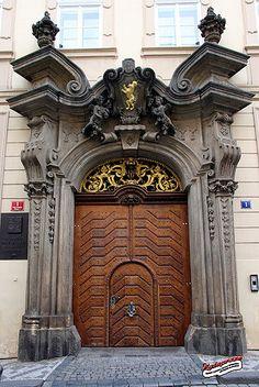 ♅ Detailed Doors to Drool Over ♅ art photographs of door knockers, hardware & portals - Prague, Czech Republic Cool Doors, Unique Doors, The Doors, Windows And Doors, Front Doors, Grand Entrance, Entrance Doors, Doorway, Amazing Architecture