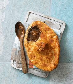 Steak Pie: Tom Norrington-Davies' steak pie recipe is made with rich, stout-based beef stew, with a suet crust draped over the top.