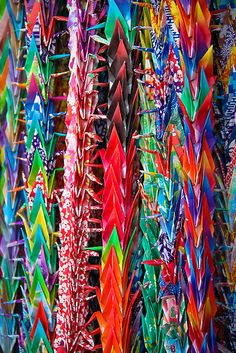 Japanese 1000 origami cranes