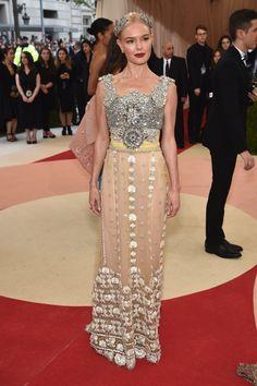 Kate Bosworth in Dolce & Gabbana Alta Moda F15 at Met Gala 2016