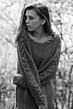 Ravelry: Side Knit Sweater with Cable pattern by Katrine Hammer