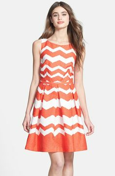 Taylor Dresses Print Cotton Fit & Flare Dress available at #Nordstrom $82.80
