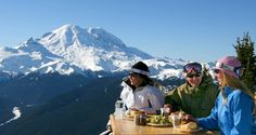 Dine at the top of the world! Well, it feels that way anyhow… Travel 2500 feet in ten minutes time on the new Mt. Rainier Gondola up to the summit of Crystal Mountain to dine at the newly-remodeled Summit House. Mount Rainier Paradise, Crystal Mountain, Mount Rainier National Park, Epic Photos, Happy Trails, Adventure Tours, Day Hike, Top Of The World, Winter Activities