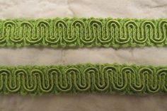 Vintage Trim 5 yards x 5/8 wide Lime Green by rarefinds4u on Etsy $6.25