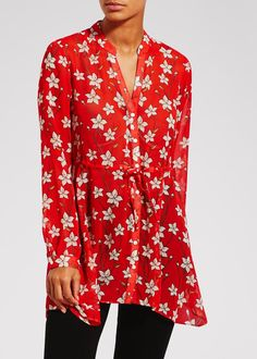 9e458bd86e FLORAL TUNIC BLOUSE (DRAWINGS) - MATALAN Red Tunic