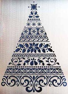 エンボスステンシルテンプレート《オーナメントクリスマスツリー》エンボスにカラーリングに焼き目付けにメタル製 Christmas Jars, Christmas Design, Christmas Holidays, Merry Christmas, Decoupage, Diy And Crafts, Paper Crafts, Christmas Drawing, Japanese Embroidery