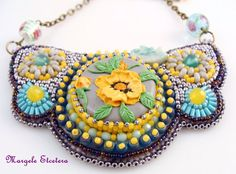 Hey, I found this really awesome Etsy listing at https://www.etsy.com/listing/265057924/flowers-bead-embroidery-necklacepolymer