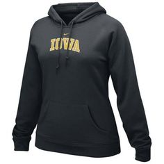 Nike Iowa Hawkeyes Ladies Black Arch Lettering Hoody Sweatshirt  Price: $39.95