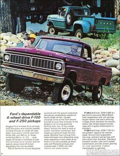 1970 Ford F250 Side Flare Truck - Top photo
