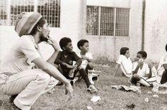 Bob Marley with Ziggy & his football team