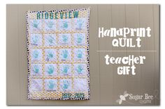 Sugar Bee Crafts: Handprint Quilt