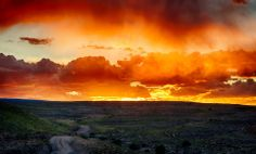 Sunset over some BLM land near Delta, Colorado (September 2013)