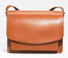 & Other Stories Saddle Stitch Leather Shoulder Bag Cross Shoulder Bags, Leather Shoulder Bag, Stitching Leather, Midi Dresses, Window Shopping, Leather Working, Designer Handbags, Saddle Bags, Bag Accessories
