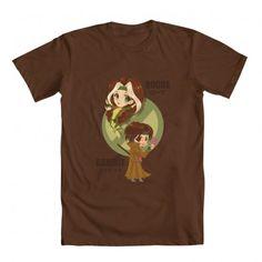 Kawaii Rogue and Gambit model for this t-shirt.