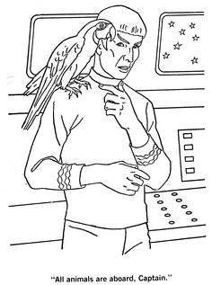 60 Best Coloring Pages Star Trek Images Coloring Book Vintage