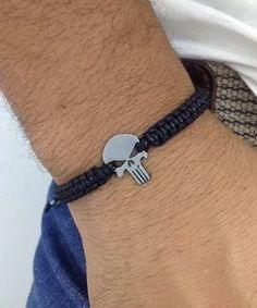 kit colar masculino pulseira masculina caveira justiceiro