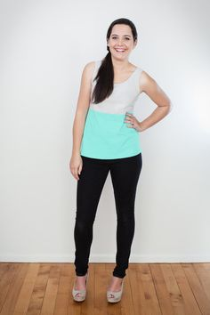 Two Tone Singlet by ReCreate   Organic Designer Ethical
