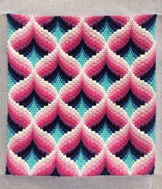 Best 12 Bargello Needlepoint or Florentine Longstitch Original handmade in Summer 2018 in fabulous colours. traditional bargello pomegranate shapes taking about 25 hours work to complete and Using pure cotton polished yarn – limited edition threads. Bargello Needlepoint, Broderie Bargello, Bargello Patterns, Needlepoint Pillows, Needlepoint Designs, Needlepoint Stitches, Needlepoint Kits, Needlepoint Canvases, Embroidery Stitches