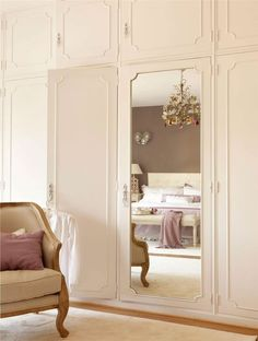 Ikea Bedroom Wardrobes, Bedroom Closet Design, Home Bedroom, Bedroom Decor, Hallway Furniture, Bedroom Furniture Design, Mirrored Wardrobe Doors, Bedroom Built Ins, Build A Closet