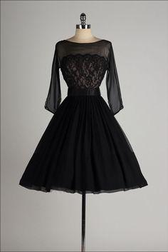 Vintage dress with sleeves