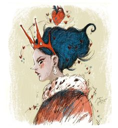 ALICE IN WONDERLAND - Sara Porras  #queenofhearts #alice #wonderland #design #illustration #project #sara #porras