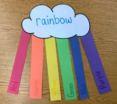 Kindergarten STEM and sight word rainbow craftivity