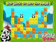 Panda Jam App by SGN Games. Elimination Puzzle Apps Game.